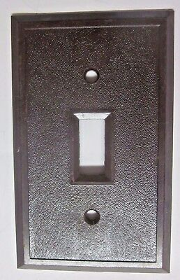 Antique fine textured brown bakelite switch wall plate cover