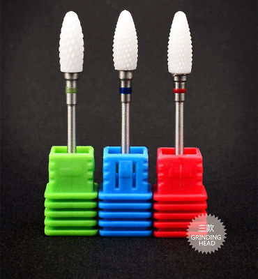 Hot Ceramic Nail Drill Bits for Electric Manicure Accessories Cutter Nail Files