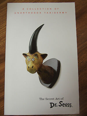Dr. Seuss Theodore Seuss Geisel Unorthodox Taxidermy Sculpture 2003 booklet 2pg