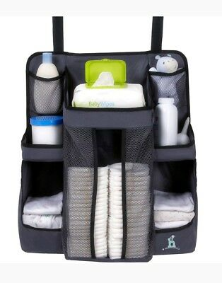 New Hiccapop Nursey Organizer Gray Diaper Holder