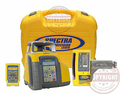 Spectra Precision Gl422N + Cr600 Self-Leveling Dual Slope Laser Level,trimble