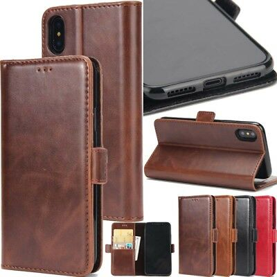 Card Holder PU Leather+TPU Flip Wallet Case Cover Stand For iPhone Samsung Huawe