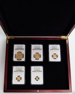 2009 Great Britain 5 Coin Gold Proof Set - NGC PF69 Ultra Cameo !!!