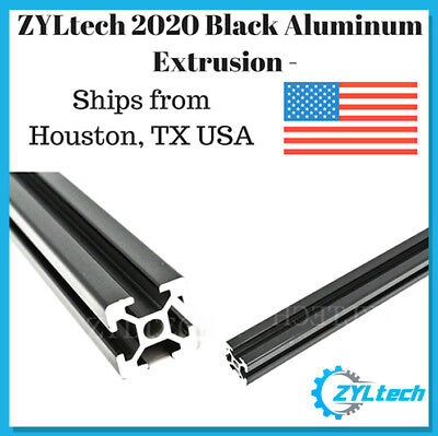 ZYLtech 2020 Aluminum T-Slot Aluminum Extrusion - Black 500mm CNC 3D Printer