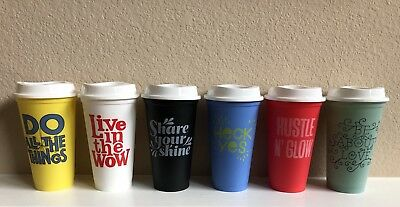 STARBUCKS— LIMITED EDITION 6-reusable cup collection (set of 6)  $25