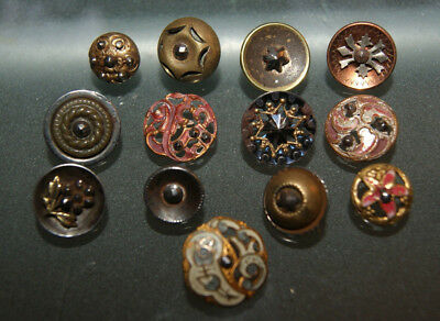 Antique Lot of Buttons with Cut Steals some with Enamel