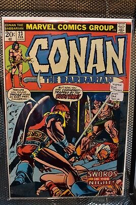 Conan the Barbarian 23 Signed by Roy Thomas Marvel 1973 1st Appearance Red Sonja