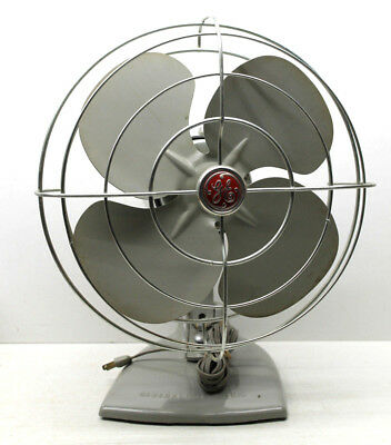 Handsome Vintage GE General Electric Syracuse NY Oscillating Fan Industrial Chic