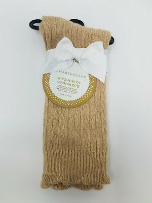 Any 2 Charter Club Women/'s Cashmere Blend Soft Crew Socks for $27.50 Casual 9-11