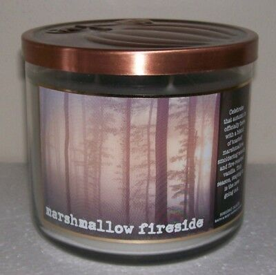BATH & BODY WORKS MARSHMALLOW FIRESIDE 14.5oz CANDLE GREAT SCENT CHECK IT OUT!
