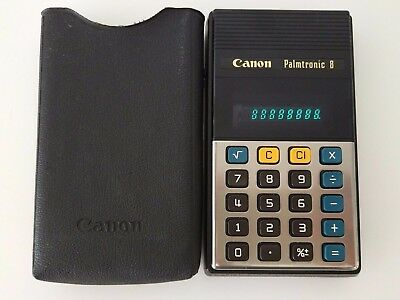 Canon Palmtronic 8 Calculadora Calculator Retro + Funda - Excelente estado