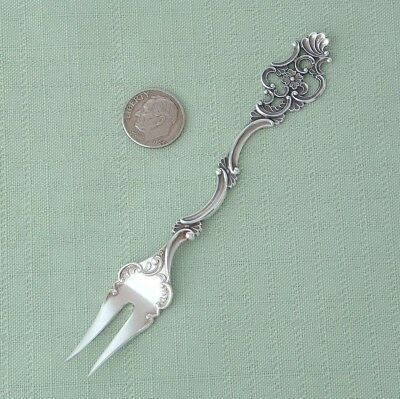 T.h. Marthinsen Sterling Silver Fancy Pattern Lemon Fork Norway / Norwegian