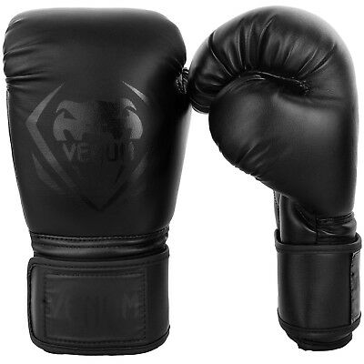 Venum Boxing Gloves Contender Black Black Muay Thai MMA Sparring Kickboxing K1