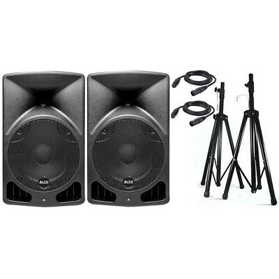 """Alto TX12 12"""" Truesonic 1200W Powered PA Speaker Pack w/ Stands & Cables"""