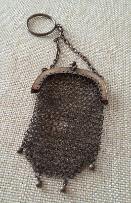 vintage mesh coin purse with finger ring