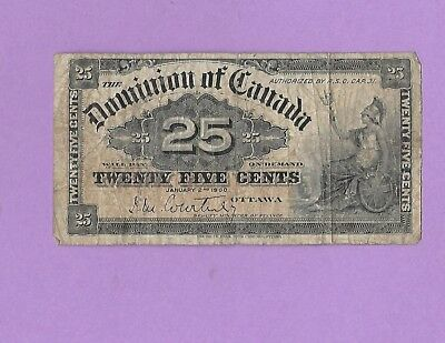 1900 .25 Canada Fractional Currency Note