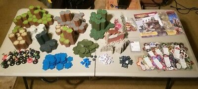HUGE Heroscape Lot Miniatures Game Marvel/DC Custom Pieces FREE SHIPPING