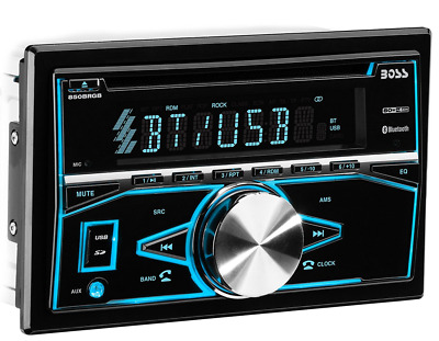 BOSS 850BRGB Bluetooth Double Din MP3 CD AM/FM Receiver