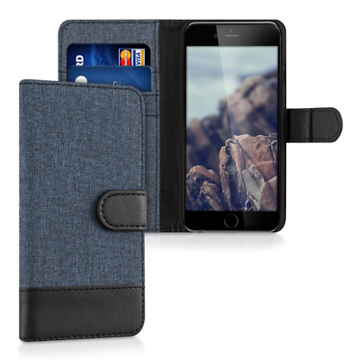kwmobile Wallet case canvas cover for Apple iPhone 6 / 6S - Flip case with card