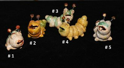 Fun Glazed Clay Tequila / Mezcal Worms  - SOLD SEPARATELY - Mexican Folk Art