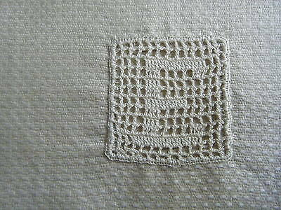"Antique Nos, Fine Irish Linen Monogrammed ""e"" Towel Still Has Its Original Tag"