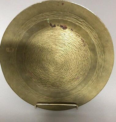 Antique Arts And Crafts E.T.C. Fish Hand Wrought Brass Tray