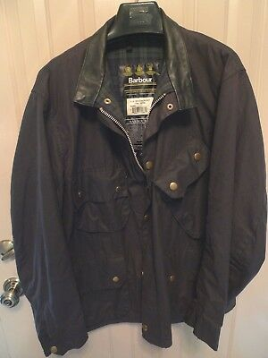Barbour- A132 Beacon Waxed Cotton Jacket-Rare-Made In England- Size 50