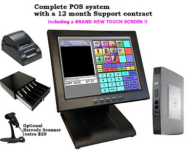 Point of sale POS system register Touch screen restaurant retail pizza new used