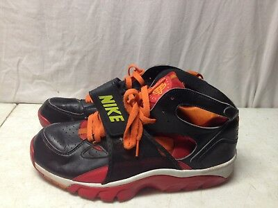 2007 Nike Air Trainer Hurrache Size 10 679083-081 Shoes Red Orange Black