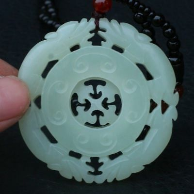 Chinese Exquisite Hand-Carved brave troops carving Hetian jade Pendant