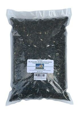 Sunflower Seed Black Oil Whole-Natural Organic 4 lb / Great For Sprouting