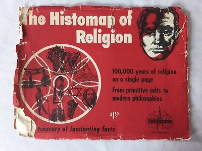 """1955 The Histomap of Religion By John B Sparks """"Mans Search For Spiritual Unity"""""""