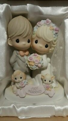 precious moment Till the End of Time Just Married Figurine