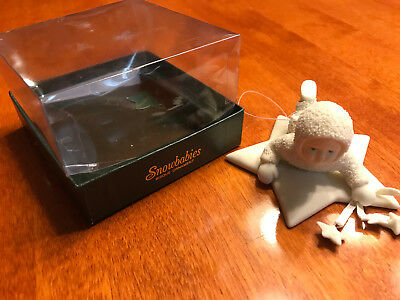 """Department 56 SNOWBABIES """"GATHERING STARS IN THE SKY"""" ORNAMENT SHIPS FAST"""