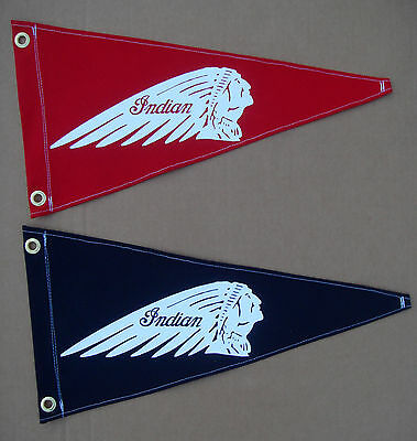 Indian Vintage Style Motorcycle Flag Pennant Boat Memorabilia Retro Chief New