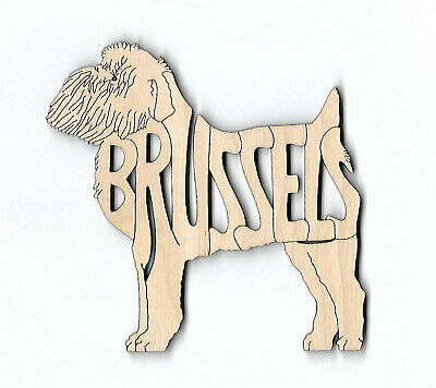 Brussels Griffon Dog laser cut and engraved wood Magnet