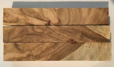 Highly Figured Mango Wood Pen Turning Blanks - 3 in lot - 22x22x125