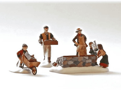 Dept 56 Tending The Cold Frame 3 pc Dickens Village New Orig Box #58416 Heritage