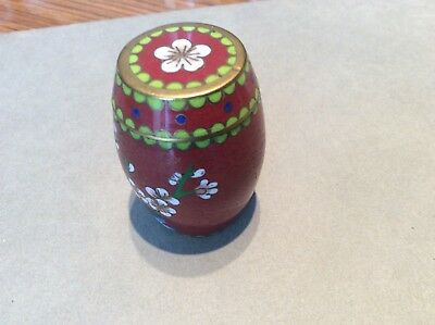 Small Cloisonné Lidded Container
