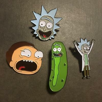 Hot Morty Pickle Rick and Rick Badge Button Brooch Chest Pin Souvenir Otaku Gift