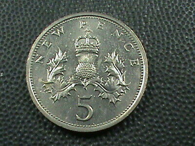 GREAT  BRITAIN     5  Pence    1979    UNCIRCULATED