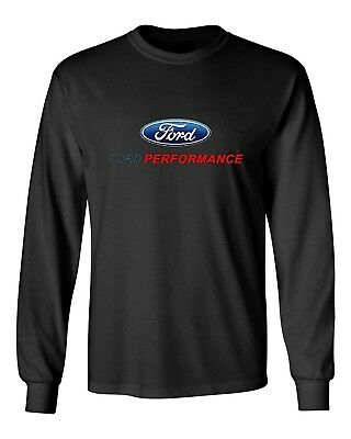 Ford Performance Long Sleeve T-Shirt Mustang Gt St Racing ( Front Print)
