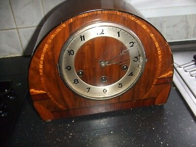 Vintage  GUFA Westminster or Whittington Chiming Mantle Clock with inlay