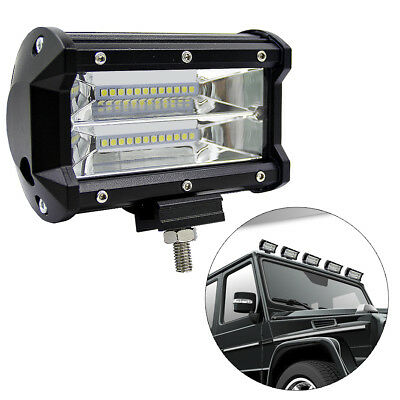 """5""""72W LED Light Bar Spot Work Off Road Driving Lamp 4WD SUV Truck Boat 10800LM"""
