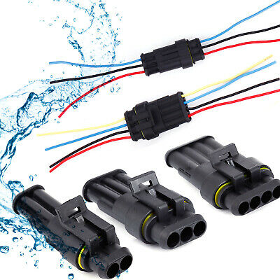 Car Waterproof Electrical Wire Cable Automotive Connector Way Plug Kit 2 3 4 Pin