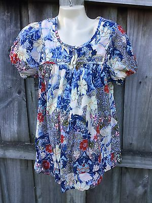 Pretty Maternity Short Sleeved  Top / Shirt Next  Size 12