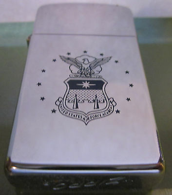 Vintage RARE 1962 USAF Air Force Academy slim ZIPPO LIGHTER MADE IN CANADA!