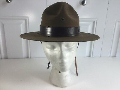 Rare Vintage Official Boy Scouts Of America Scout Master Stetson Hat &hat Board