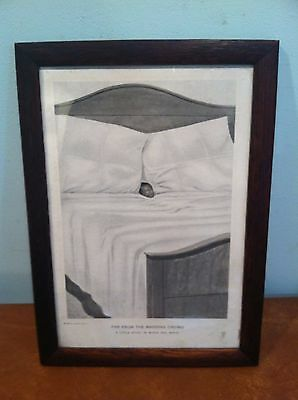 """Antique Black Americana Print """"Far From the Madding Crowd"""""""