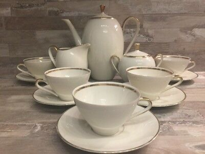 Vintage Old ♚ Winterling Marktleuthen  Bavaria Finest China Tea Coffee Service 5
